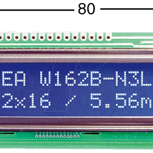 16×2 Character LCD Module Blue Background
