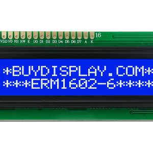 16x2 Character LCD Module Blue Background