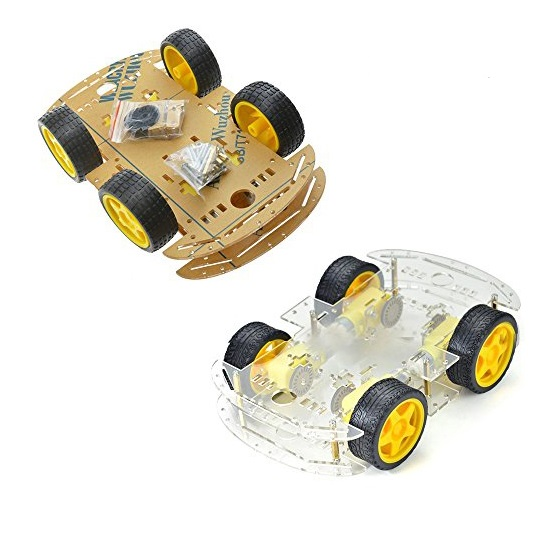 4 Wheel Robot Smart Car Chassis Kit