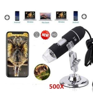 500x Digital USB Microscope 0X~500X Electronic Microscope USB 8 LED