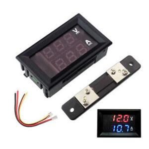 DC 100V 50A Voltmeter Ammeter LED Dual Digital Volt Amp Meter