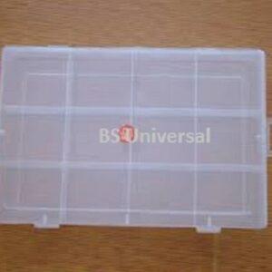 Multipurpose Clear Transparent Plastic Storage Box (12 Partition)