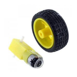 RC Car Gear Motor with Car Wheel
