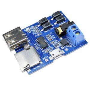 F card U disk MP3 Format Decoder Board Module Amplifier Decoding Audio Player