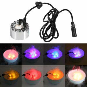 Ultrasonic Mist Maker Fogger 12 LED Colorful Light 1A 24V In Pakistan