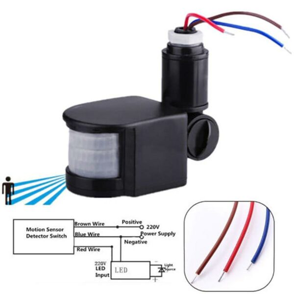 Automatic Infrared PIR Motion Sensor Detector Switch In Pakistan